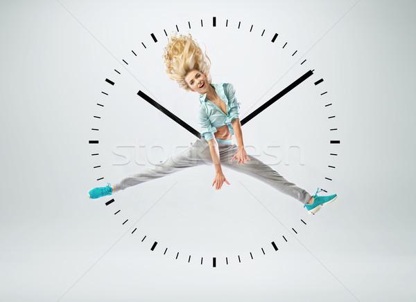 Kadın insan saat bayan kız parti Stok fotoğraf © konradbak