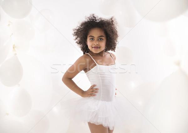 портрет мало Cute балерина стороны вечеринка Сток-фото © konradbak