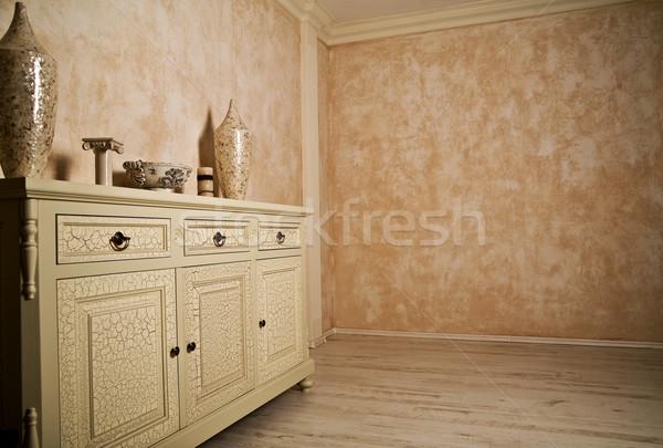 минимализм реальный комнату пространстве расслабиться мебель Сток-фото © konradbak