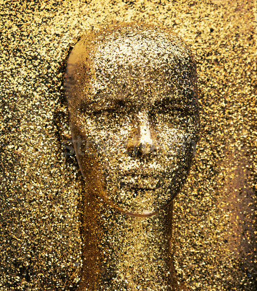 Glittering, golden head of a mannequin Stock photo © konradbak
