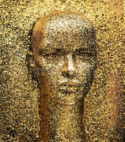 Or tête mannequin sculpture visage Photo stock © konradbak