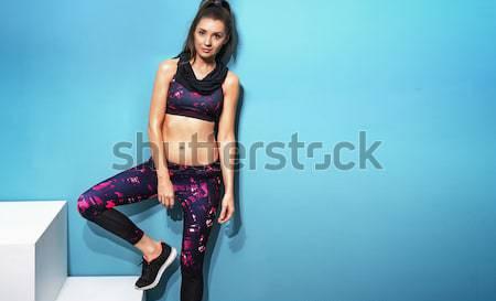 Jeune femme sexy lingerie mode jambes Photo stock © konradbak