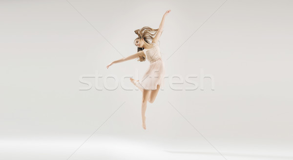 Young beautiful and talented ballet dancer Stock photo © konradbak