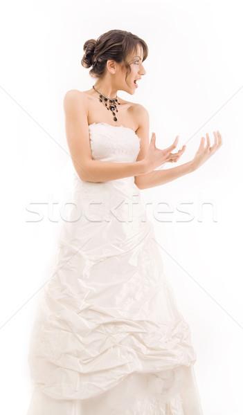 Bride having a bad day  Stock photo © konradbak