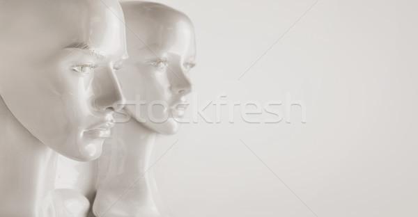 Plâtre mannequin pièces visage mode Shopping Photo stock © konradbak