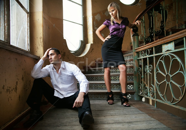 Young couple in separation Stock photo © konradbak