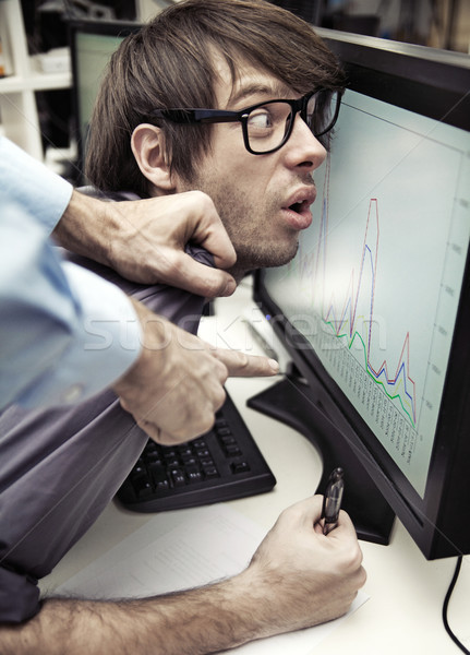 Office worker forced to work Stock photo © konradbak