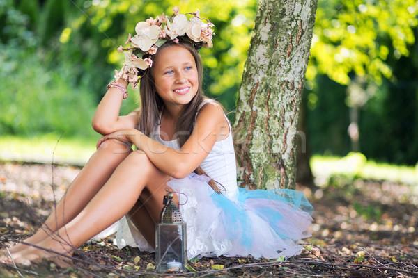 фантастический фотография молодые довольно девушки Lady Сток-фото © konradbak