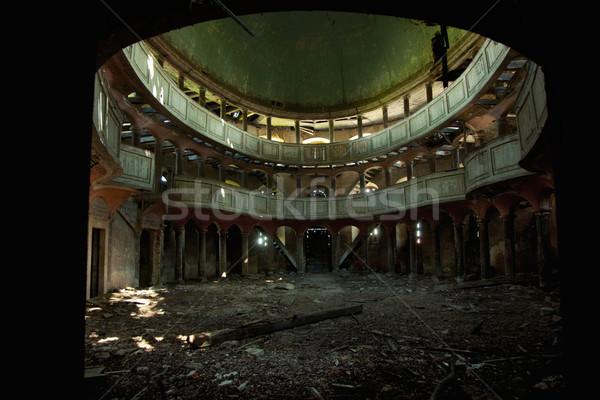 Velho ópera edifício parede luz fundo Foto stock © konradbak