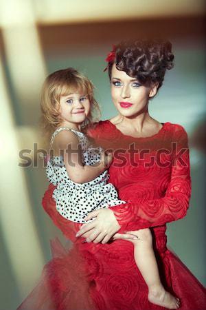 Bayan kız duvar cilt genç kadın Stok fotoğraf © konradbak