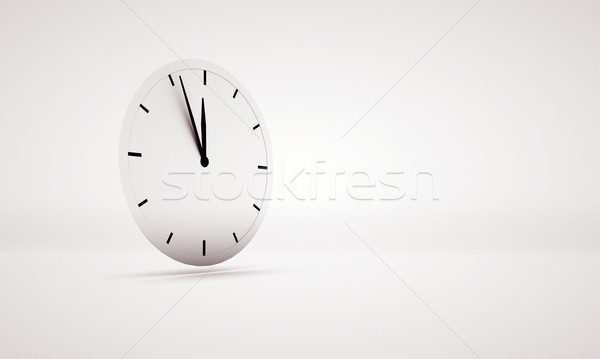 Abstract picture presenting white clock Stock photo © konradbak