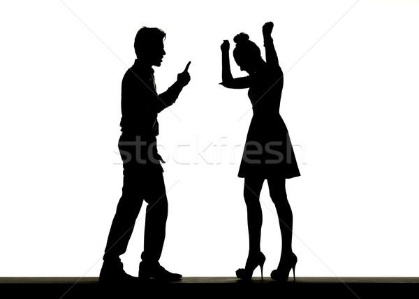 Picture presenting the family argument Stock photo © konradbak