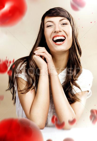 Retrato alegre feliz rojo Foto stock © konradbak