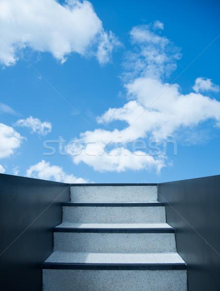 Stairway leading up to sky Stock photo © konradbak