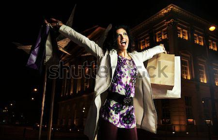 Portret taniec brunetka portret kobiety tancerz Zdjęcia stock © konradbak