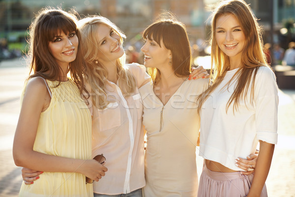 Four fantastic girls during summer afternoon Stock photo © konradbak