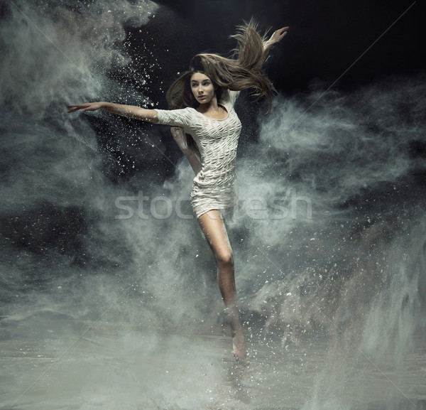 Talented ballet dancer catching the dust Stock photo © konradbak