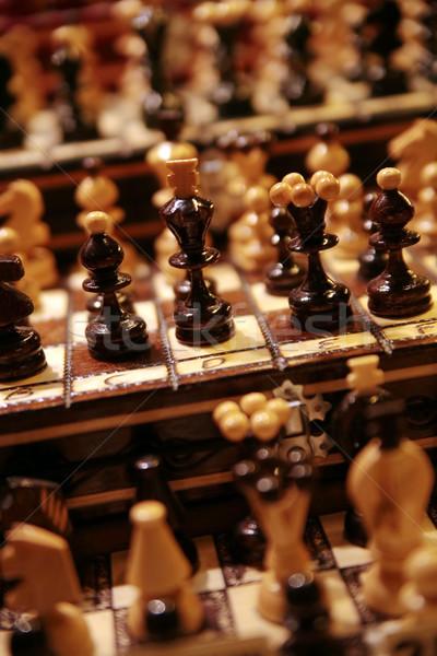 Foto exclusivo piezas de ajedrez retro Foto stock © konradbak