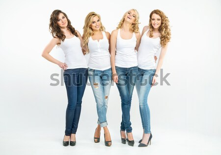 Sensual young women posing together Stock photo © konradbak