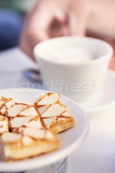 Delicious cake and coffee Stock photo © konradbak