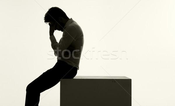 Frustrated businessman in the very bad mood Stock photo © konradbak