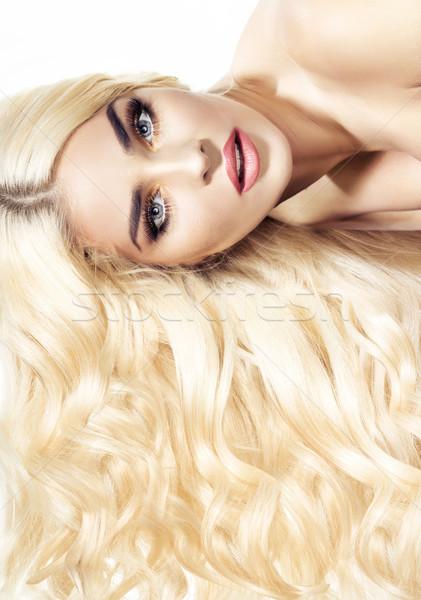 гламур портрет заманчивый Lady женщину моде Сток-фото © konradbak