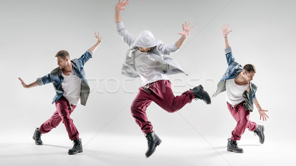 Portrait of a talented dancing guy Stock photo © konradbak