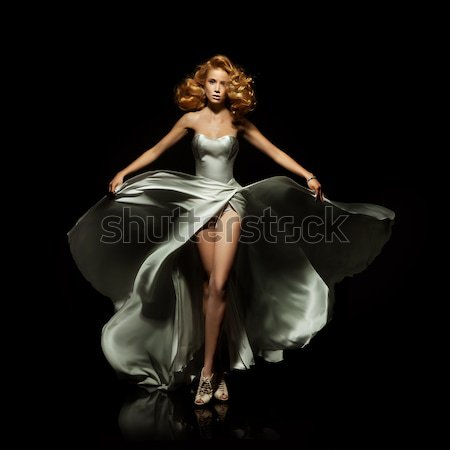 Wonderful lady wearing gorgeous dress Stock photo © konradbak