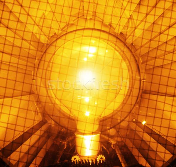 Parlak turuncu ampul sarı ışık teknoloji Stok fotoğraf © konradbak