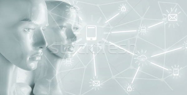 Inteligência artificial internet rede globalização computador dinheiro Foto stock © konradbak