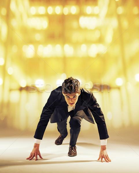 élégant élégant Guy costume homme Photo stock © konradbak