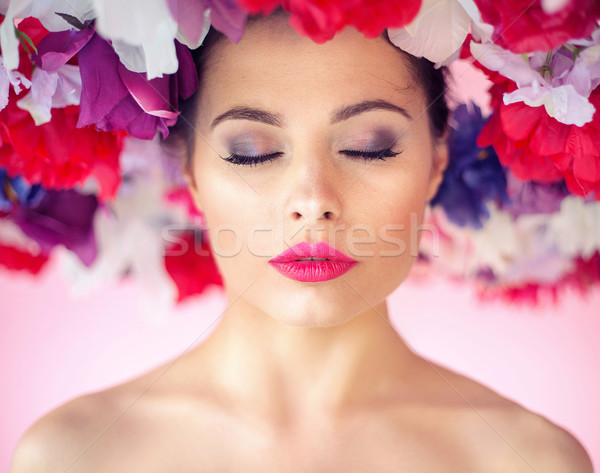 Flower nymph with a perfect clean complexion Stock photo © konradbak