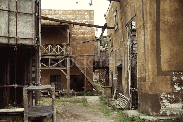 Abandoned houses in the ancient Rome Stock photo © konradbak