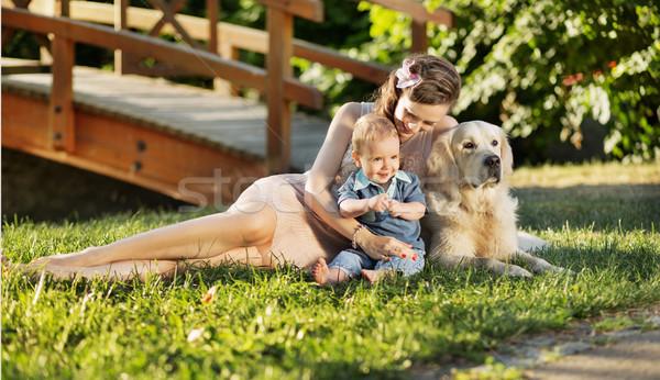 Сток-фото: матери · сын · ПЭТ · собака · женщину