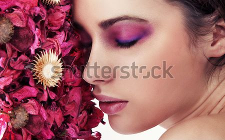 Beautiful young woman portrait Stock photo © konradbak