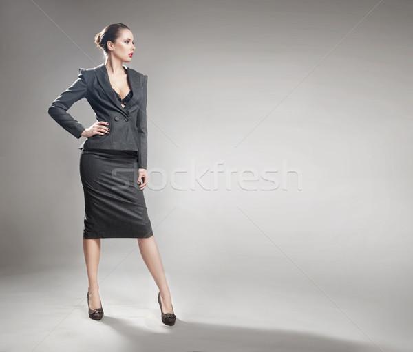 Stock photo: Elegant young businesswoman
