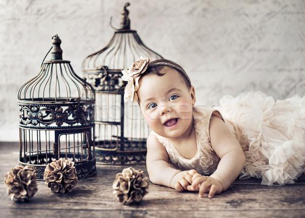 Portrait of a little cute girl Stock photo © konradbak