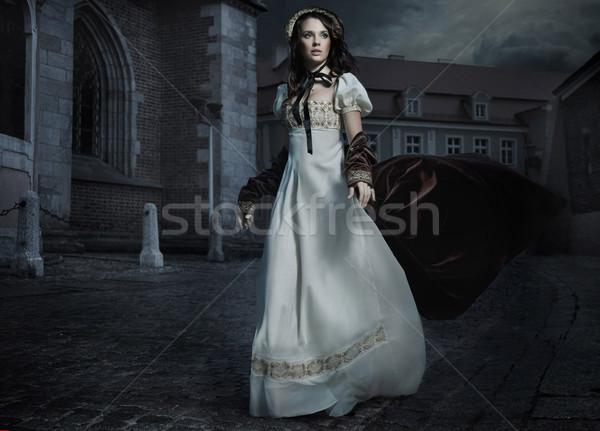 şehvetli genç bayan kız yüz kadın Stok fotoğraf © konradbak