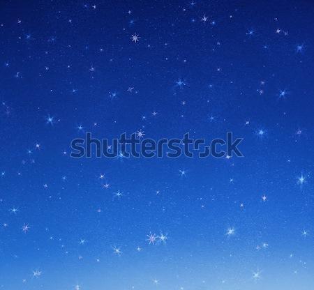Image of a dark sky, shininhg stars Stock photo © konradbak