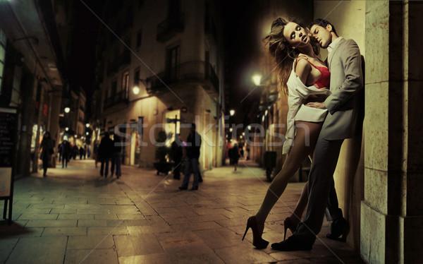 Сток-фото: искусства · фото · красивый · мужчина · Sexy · Lady · сексуальная · женщина