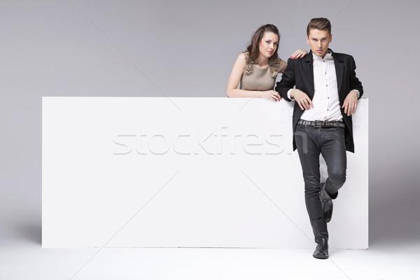 Fantasztikus pár megnyugtató stúdió fiatal pér üzlet Stock fotó © konradbak