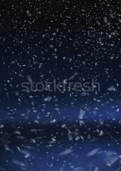 Stock fotó: Hó · zuhan · háttér · éjszaka · ünnep · levegő
