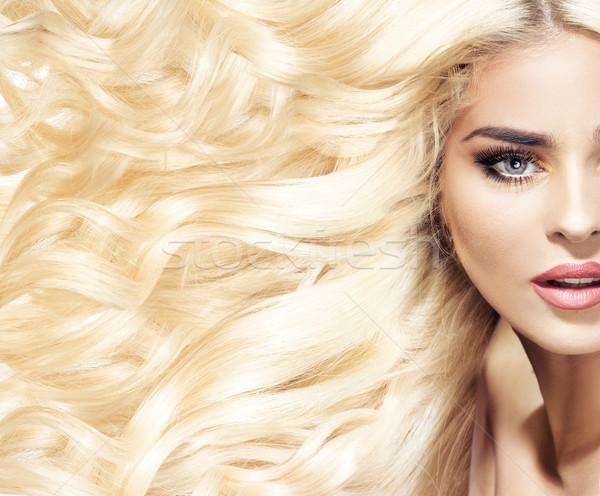 Portré nő divatos hajviselet frizura arc Stock fotó © konradbak