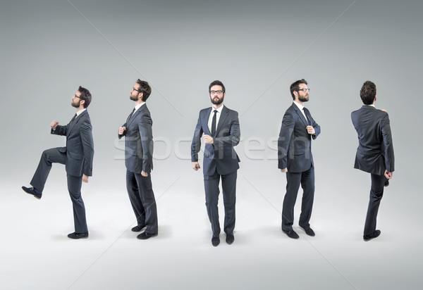 Inny krok dumny biznesmen młodych działalności Zdjęcia stock © konradbak