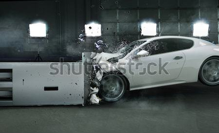 Picture presenting crashed expensive car Stock photo © konradbak