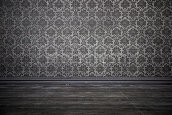 Old-fashioned room with a grunge wallpaper Stock photo © konradbak