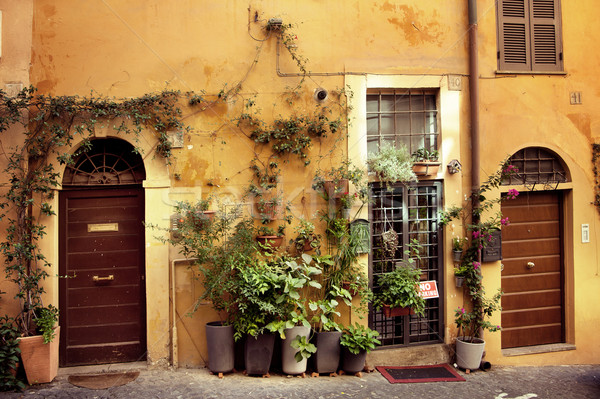 Old italian street Stock photo © konradbak