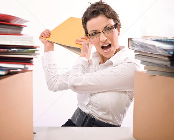 Worried secretary  Stock photo © konradbak