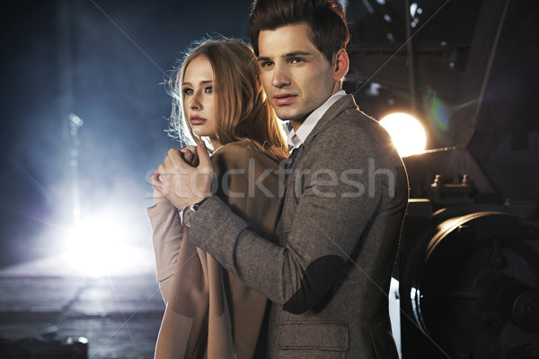 Portrait of serious young couple Stock photo © konradbak