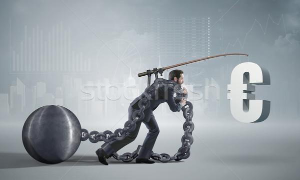 Kimerült üzletember fizet el kölcsön menedzser Stock fotó © konradbak